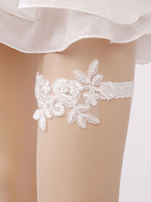 Lace Bridal Garter White Wedding Pearls Women Sexy Lingerie Accessories