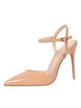Sapatos 2020 de Saltos altos nus Décolleté com dedo apontado Décolleté com alças de balão Sapatos femininos