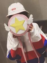 Suor Lolita Saco Cardcaptor Sakura Angel Asa Design Starlet Lolita Rosa Bolsa De Ombro