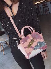 Lolita doce Bag Lantejoula Nuvem PU Patch Lolita Satchel Bag