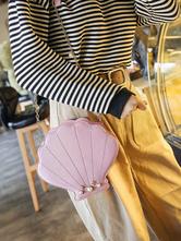 Sweet Lolita Shoulder Bag Laser Glitter Seashell Pearl Bead PU Lolita Bolsa de cadena oLHuW