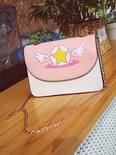 Doce Lolita Bolsa De Ombro Cardcaptor Sakura Imprimir PU Rosa Saco De Lolita