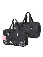Black Lolita Bag Print Canvas Casual Lolita Tote Bag