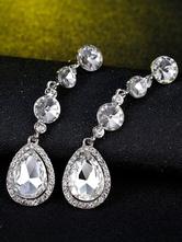 Orecchini con strass Orecchini pendenti con orecchini in argento