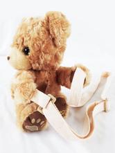 Lolita doce mochila Faux Fur urso Brown Lolita Bag