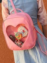 Doce Lolita Mochila Querida Transparente Design PU Lolita Bag