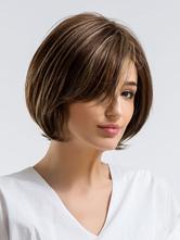 Human Hair Wigs Bob Hair Wigs Women Side Parting Straight Hair Wigs