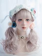 Rococo Lolita Wig Full Volume Curl Tousled Apricot Long Lolita Wig