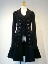 Cappotto Lolita gotico in lolita con doppio petto falso in due pezzi