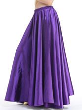 Traje de dança de salão saia roxo Treino de dança de salão saia