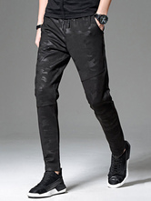 99dfcfb9379 Black Jogger Pant Camo Pattern Plus Size Cotton Pant Men Tapered Track Pant- No.