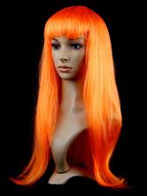 Pelucas de pelo de Halloween pelucas rectas largas de carnaval