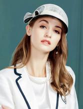 Vintage Hat Women Royal Headpieces Linen Bows Retro Costume Accessories