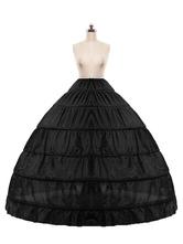 Свадебный кринолин Полное платье Slip Black One Tier Bridal Petticoat