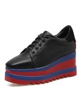 Sapatos femininos com plataforma preta