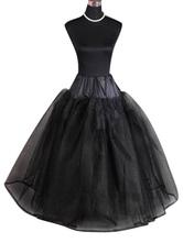 Черный свадебный петтикот без костей Six Tier Bridal Crinoline Slip