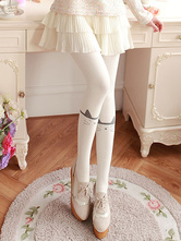 Sweet Lolita Pantyhose Cat Cotton White Lolita Stocking