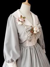 Cappotto classico Lolita Infanta Grass Story Bow Stripe Flower Lolita Overcoat