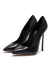Black High Heels Stiletto Heel Pointed Toe Pumps for Women