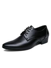 Schwarzes Kleid Schuhe Männer Runde Kappe Lace Up Casual Business Schuhe Bräutigam Schuhe