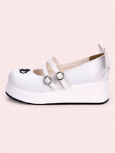Sweet Lolita Pumps Strappy Buckle Cut Out Wing Lolita Flatform Shoes