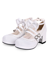 ffeca0694743 Sweet Lolita One Piece Dress Kawaii Caramel Pudding Summer Lolita Op.    43.19. Sweet Lolita Footwear Bow Frill Strappy Chunky High Heel White Lolita  Shoes