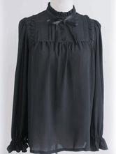 Классический блузку из лосины Lolita из плетеной шифонкой Lolita