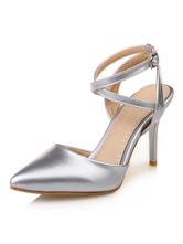 Высокие каблуки на высоком каблуке Направленные носки Criss Cross Slingbacks Насосы для женщин