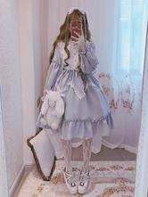 Sweet Lolita OP Dress Alice In Wonderland Ruffle Lace Lolita One Piece Dress