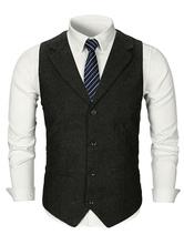 Hommes taille manteau col boutonné robe boutonnée gilet gilet costume des années 1920