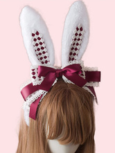 Sweet Lolita Hair Clasp Bunny Ear Lace Bow Lolita Hair Accessory
