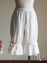 Classic Lolita Shorts Ruffle Bow White Lolita Bloomers