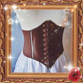 Classic Lolita Corset PU Lace Up Grommet Lolita Corsage