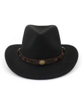 Männer Wolle Cap PU Cowboy westlichen Stil Stetson Hut