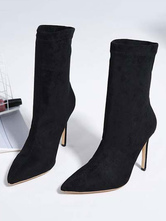 43c1d4c2489b Burgundy Winter Coat Long Sleeve Notch Collar Wool Wrap Coats For Women.    102.84. Suede Ankle Boots Black Pointed Toe High Heel Booties For Women