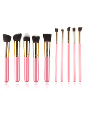 Kit de escova de maquiagem kit de escova de maquiagem profissional rosa