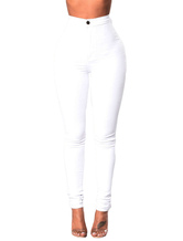 High Waisted Jeans Tapered Fit Denim Pants For Women