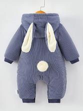 Disfraz Carnaval Conejo Pijamas de Niños Pequeños 2020 Kigurumi Onesie Rayado Mono Invernal Para Niños Halloween Carnaval Halloween