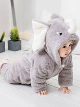 Carnevale Pigiama Elefante Kigurumi 2021 Bambino Grigio Tutina in Flanella per Bambini Inverno Tuta Costume Halloween