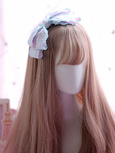Sweet Lolita Headdress Lace Pearl Bow Satin Lolita Hair Accessory