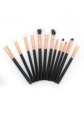 Schwarze Make-up-Pinsel-Sets Mikrofaser-Make-up-Pinsel-Sets in 12 Teilen