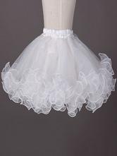 White Lolita Petticoat Ruffle Multilayer Boneless Lolita Crinoline