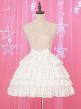 Lolita blanca Enagua de encaje con volantes en gasa Lolita Underskirt