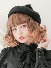 Classic Lolita Beret Dream Time Pom Pom Wool Lolita Hat