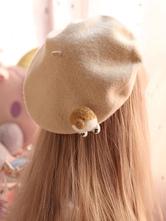 Sweet Lolita Beret Corgi Butt Wool Lolita Hat