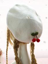 Sweet Lolita Beret Cherry Wool Lolita Hat
