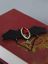 Gothic Lolita Jewelry Blood Wing Jewel Chain Black Lolita Brooch