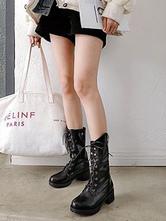 Punk Lolita Boots Lace Up Rivet Lolita Martin Boot