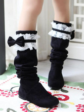 Sweet Lolita Boots Lace Bow Suede Lolita Shoes