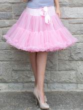 Lolita Dress Petticoat White Sweet Tulle Ruffle Petticoat Skirt